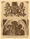 Arms of the Cities of Westminster and London 1926 old vintage print picture